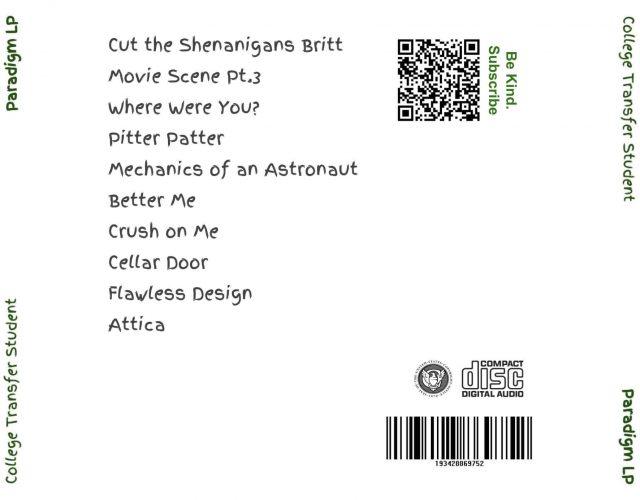Paradigm LP - CD Back Album Artwork