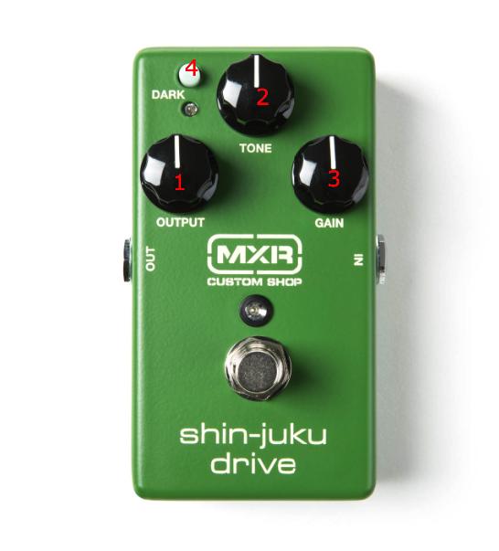 MXR Shin Juku Drive - FX Controls